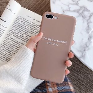 Brown soft silicone iPhone 7 Plus cases